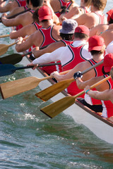 Racing the dragon boat