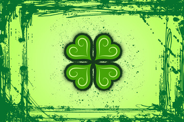 Abstract Clovers  Background Vector Illustration