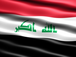 CG illustration of the 2008 flag of Iraq