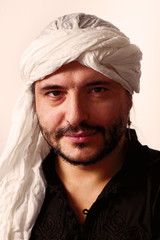 Portrait of man in turban
