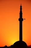 Mosque at sunrise in Skopje, Macedonia poster