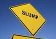 Slump road sign