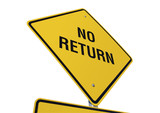 No Return road sign poster