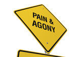 Pain & Agony road sign poster