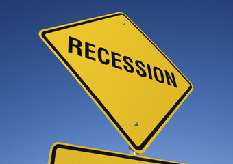 Recession road sign