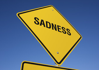 Sadness road sign