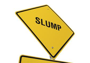 Slump road sign