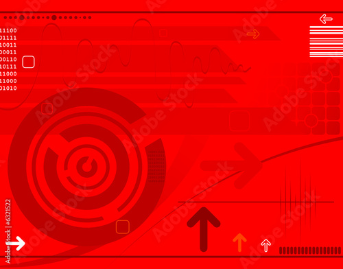 Abstract techno background with arrows, design, vector