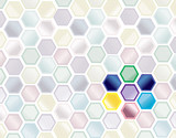 abstract science background poster