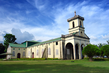 Rural exotic Filipino village church