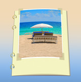 Vacation scrapbook page poster