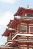 Čínská modlitba svatyně exteriérů budov v Asii.