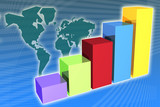 Global Growth in business generic presentation background poster