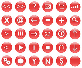 Icons for web actions. Inspired by web 2.0 buttons.