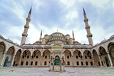 Blue Mosque, istanbul, turkey, wide angle poster
