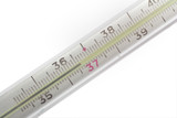 thermometer show normal temperature poster