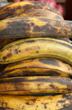 Plantains for sale on a open air market stall poster
