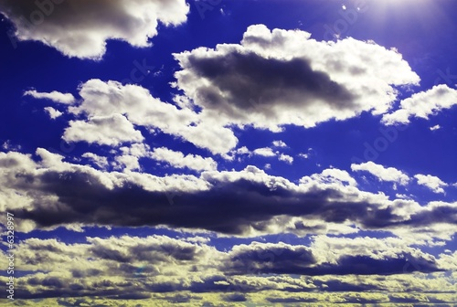 Open blue cloudy skies