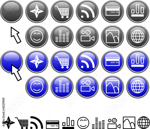 Set of icons.