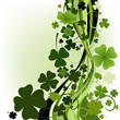 roleta: design for St. Patrick's Day with four and three leaf clovers