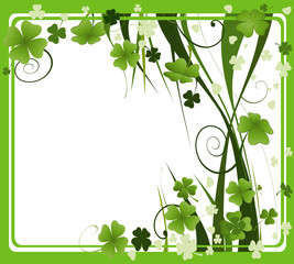 clover frame for St. Patrick's Day