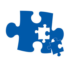 An puzzle piece illustration symbolising connectivity, fitting.