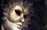 Fototapety antique venezian female mask