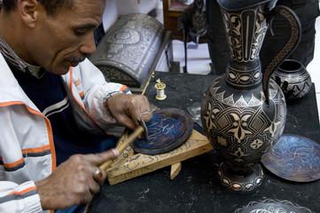 Maître potier, Meknès, Maroc.