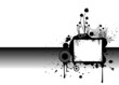 Vector illustration of a grunge dirty background in bw