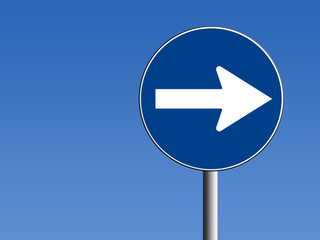 Segnale direzione obbligatoria a destra