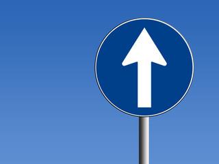 Segnale direzione obbligatoria dritto