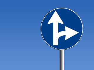 Segnale direzione obbligatoria destra/avanti