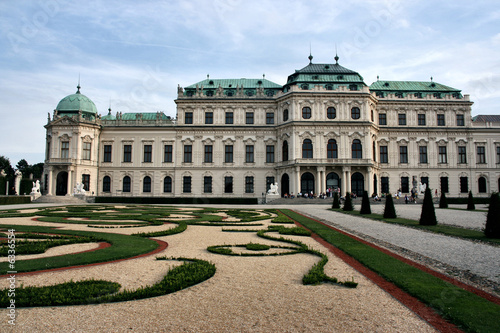 Belvedere castle in Vienna. Vintage landmark of Austria.