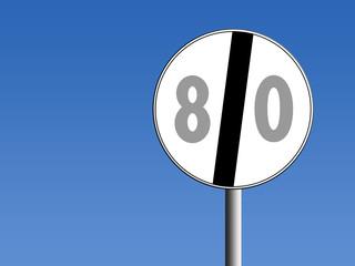 segnale fine limite di velocità
