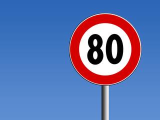 segnale limite di velocità