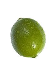 Close-up of a green lemon