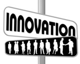 innovation - business word poster