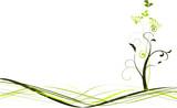 Fototapety vecteur série - printemps plante ou arbre à fleur vectoriel