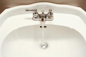 faucet running