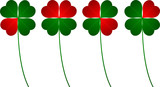clover four leafs, luck and love poster