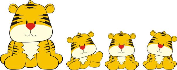 tigre con cachorros