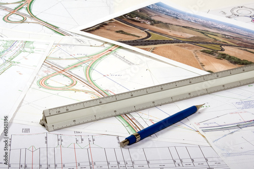 Plan aménagement du territoire - échangeur autoroute - 6350396