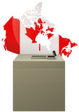 Election canadienne poster
