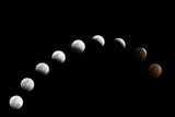 A composite of a lunar eclipse that occurred on February 20 2008 poster