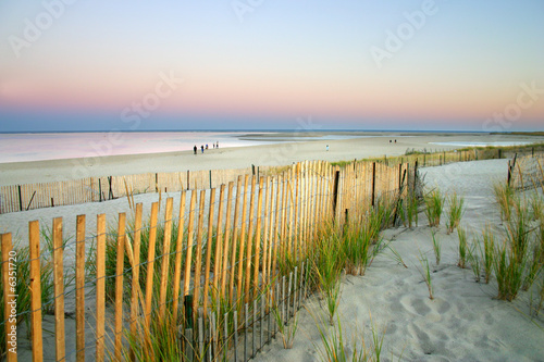 Fotobehang Zonsondergang op het Strand Cape Cod, Massachusetts, USA..
