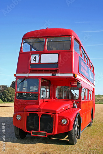 Foto op Canvas Londen rode bus London bus
