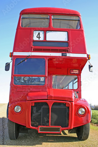 Poster Red double decker London Bus
