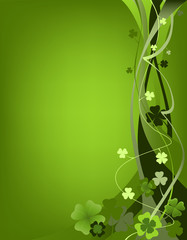 design for St. Patrick's Day with clovers