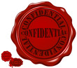 wax seal with text: confidential