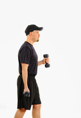Health and Fitness Dumbbell Weights Workout